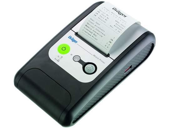 В комплекте с прибором идет компактный и полностью автономный принтер